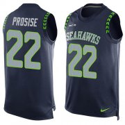 Wholesale Cheap Nike Seahawks #22 C. J. Prosise Steel Blue Team Color Men's Stitched NFL Limited Tank Top Jersey