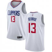 Wholesale Cheap Clippers #13 Paul George White Basketball Swingman Association Edition Jersey