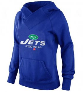Wholesale Cheap Women\'s New York Jets Big & Tall Critical Victory Pullover Hoodie Blue