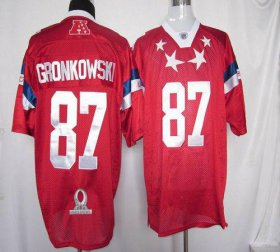 Wholesale Cheap Patriots #87 Rob Gronkowski Red 2012 Pro Bowl Stitched NFL Jersey