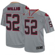 Wholesale Cheap Nike 49ers #52 Patrick Willis Lights Out Grey Men's Stitched NFL Elite Jersey