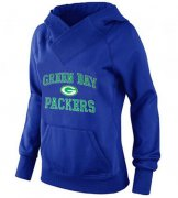 Wholesale Cheap Women's Green Bay Packers Heart & Soul Pullover Hoodie Blue