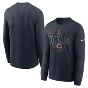 Wholesale Cheap Chicago Bears Nike Icon Legend Performance Long Sleeve T-Shirt Navy