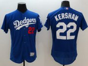 Wholesale Cheap Dodgers #22 Clayton Kershaw Blue Flexbase Authentic Collection Stitched MLB Jersey