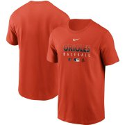 Wholesale Cheap Men's Baltimore Orioles Nike Orange Authentic Collection Team Performance T-Shirt