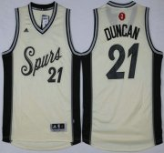 Wholesale Cheap Men's San Antonio Spurs #21 Tim Duncan Revolution 30 Swingman 2015 Christmas Day White Jersey