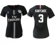 Wholesale Cheap Women's Jordan Paris Saint-Germain #3 Kimpembe Home Soccer Club Jersey