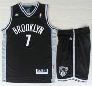 Wholesale Cheap Brooklyn Nets 7 Joe Johnson Black Revolution 30 Swingman Jerseys Shorts NBA Suits