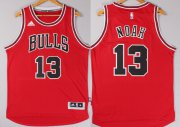 Wholesale Cheap Chicago Bulls #13 Joakim Noah Revolution 30 Swingman 2014 New Red Jersey