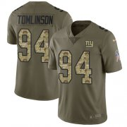 Wholesale Cheap Nike Giants #94 Dalvin Tomlinson Olive/Camo Youth Stitched NFL Limited 2017 Salute to Service Jersey