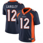Wholesale Cheap Nike Broncos #12 Brendan Langley Navy Blue Alternate Men's Stitched NFL Vapor Untouchable Limited Jersey