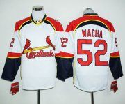 Wholesale Cheap Cardinals #52 Michael Wacha White/Red Long Sleeve Stitched MLB Jersey