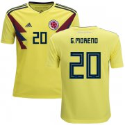 Wholesale Cheap Colombia #20 G.Moreno Home Kid Soccer Country Jersey