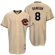 Wholesale Cheap Mitchell And Ness Cubs #8 Andre Dawson Cream Throwback Stitched MLB Jersey