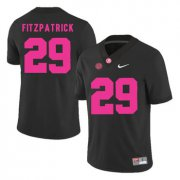 Wholesale Cheap Alabama Crimson Tide 29 Minkah Fitzpatrick Black 2017 Breast Cancer Awareness College Football Jersey