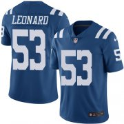 Wholesale Cheap Nike Colts #53 Darius Leonard Royal Blue Men's Stitched NFL Limited Rush Jersey
