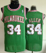 Wholesale Cheap Milwaukee Bucks #34 Ray Allen Green Swingman Throwback Jersey
