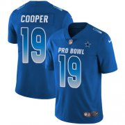 Wholesale Cheap Nike Cowboys #19 Amari Cooper Royal Youth Stitched NFL Limited NFC 2019 Pro Bowl Jersey