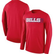 Wholesale Cheap Buffalo Bills Nike Sideline Seismic Legend Long Sleeve T-Shirt Red