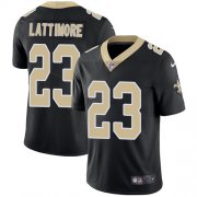 Wholesale Cheap Nike Saints #23 Marshon Lattimore Black Team Color Youth Stitched NFL Vapor Untouchable Limited Jersey