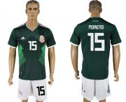Wholesale Cheap Mexico #15 H.Moreno Green Home Soccer Country Jersey