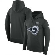 Wholesale Cheap NFL Men's Los Angeles Rams Nike Anthracite Crucial Catch Performance Pullover Hoodie