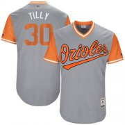 "Wholesale Cheap Orioles #30 Chris Tillman Gray ""Tilly"" Players Weekend Authentic Stitched MLB Jersey"