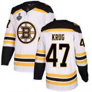 Wholesale Cheap Adidas Bruins #47 Torey Krug White Road Authentic Stanley Cup Final Bound Stitched NHL Jersey