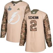 Cheap Adidas Lightning #2 Luke Schenn Camo Authentic 2017 Veterans Day 2020 Stanley Cup Champions Stitched NHL Jersey