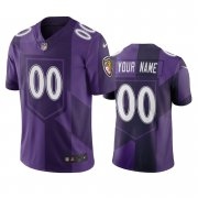 Wholesale Cheap Baltimore Ravens Custom Purple Vapor Limited City Edition NFL Jersey