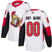 Wholesale Cheap Men's Adidas Senators Personalized Authentic White Road NHL Jersey