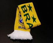 Wholesale Cheap Brazil Soccer Football Scarf Yellow