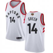 Wholesale Cheap Raptors #14 Danny Green White 2019 Finals Bound Basketball Swingman Association Edition Jersey