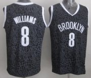 Wholesale Cheap Brooklyn Nets #8 Deron Williams Black Leopard Print Fashion Jersey