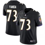 Wholesale Cheap Nike Ravens #73 Marshal Yanda Black Alternate Men's Stitched NFL Vapor Untouchable Limited Jersey