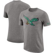 Wholesale Cheap Philadelphia Eagles Nike Marled Historic Logo Performance T-Shirt Heathered Gray