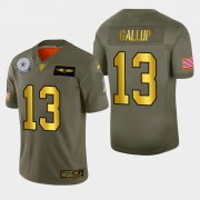 Wholesale Cheap Dallas Cowboys #13 Michael Gallup Men's Nike Olive Gold 2019 Salute to Service Limited NFL 100 Jersey