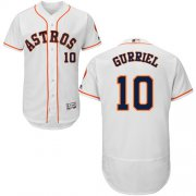 Wholesale Cheap Astros #10 Yuli Gurriel White Flexbase Authentic Collection Stitched MLB Jersey