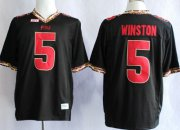 Wholesale Cheap Florida State Seminoles #5 Jameis Winston 2013 Black Jersey