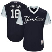 "Wholesale Cheap Yankees #18 Didi Gregorius Navy ""Sir Didi"" Players Weekend Authentic Stitched MLB Jersey"