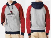 Wholesale Cheap Arizona Cardinals Critical Victory Pullover Hoodie Grey Red