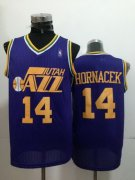 Wholesale Cheap Utah Jazz #14 Jeff Hornacek Purple Swingman Throwback Jersey