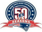 Wholesale Cheap Stitched New England Patriots 50th Anniversary Jersey Patch