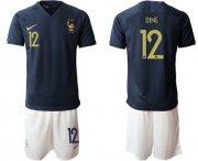 Wholesale Cheap France #12 Dine Home Soccer Country Jersey
