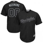 Wholesale Cheap Washington Nationals Majestic 2019 Players' Weekend Cool Base Roster Custom Jersey Black