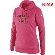 Wholesale Cheap Women's Nike Chicago Bears Heart & Soul Pullover Hoodie Pink