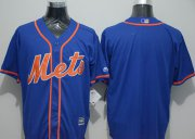 Wholesale Cheap Mets Blank Blue New Cool Base Alternate Home Stitched MLB Jersey