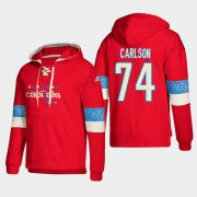 Wholesale Cheap Washington Capitals #74 John Carlson Red adidas Lace-Up Pullover Hoodie