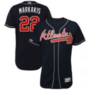 Wholesale Cheap Braves #22 Nick Markakis Navy Blue Flexbase Authentic Collection Stitched MLB Jersey