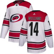 Wholesale Cheap Adidas Hurricanes #14 Justin Williams White Road Authentic Stitched Youth NHL Jersey